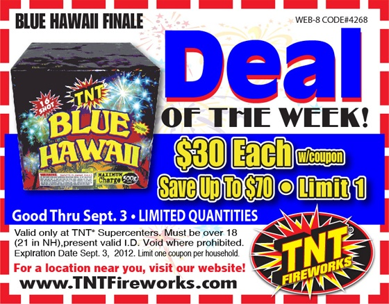 picture regarding Phantom Fireworks Coupons Printable identified as Tnt fireworks discount coupons - Great suv hire offers 2018