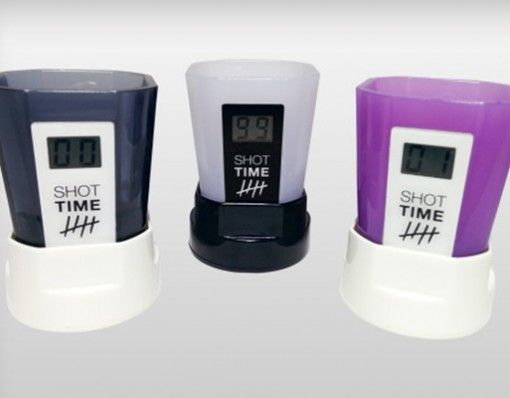 Shot Time Shot Glasses- Track how many shots you have had even after you can't remember anymore. http://shopfor20.com/product/shot-time-shot-glasses/
