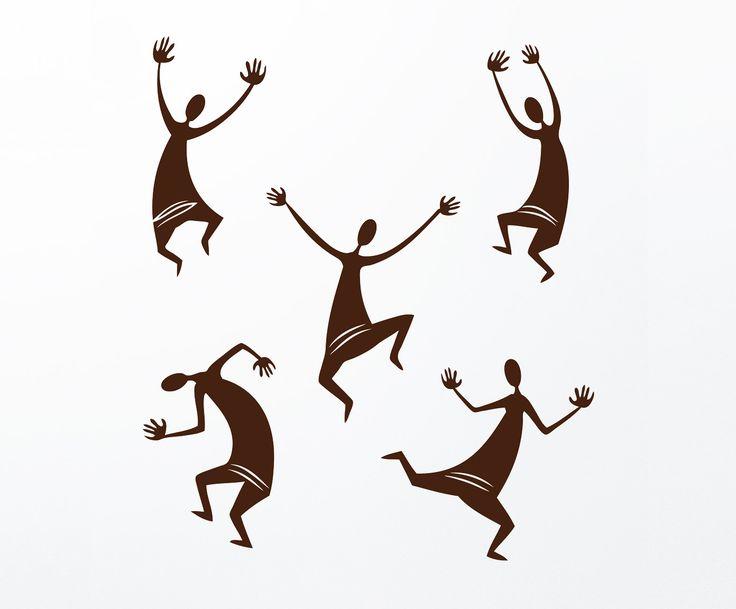 "Стикер ""Африканские танцы"" | Westwing Интерьер & Дизайн"