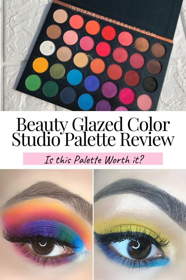 Beauty Glazed Color Studio Palette Review Is It Worth It Indian Budget Beauty Beauty Glazed Beauty Affordable Eyeshadow Palettes