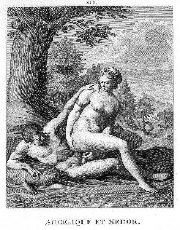 Agostino Carracci: Angelique y Medoro