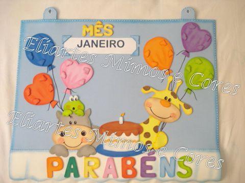 Eliartes Mimos e Cores: Cartaz de aniversário - berçário