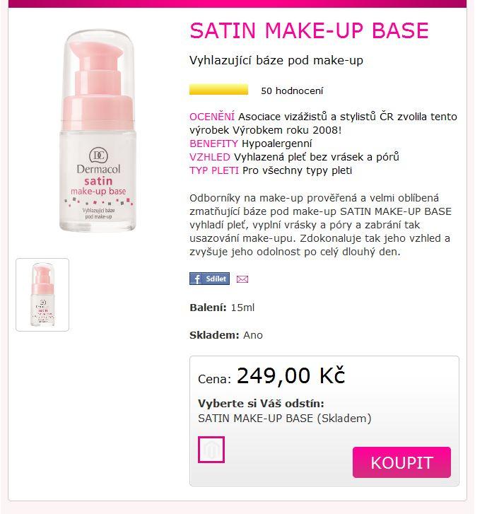 baze pod make up doporučuje Lucka jako nejlepší bázi !!! od Dermacolu. na denní použití , je na silikonové bázi , lehounký a nejlepší