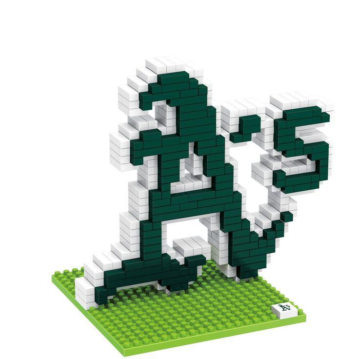 Oakland Athletics Puzzle 3D BRXLZ Logo Design Special Order