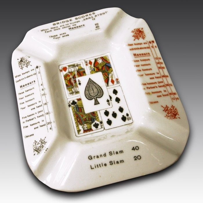 This Bridge-themed ashtray would be the perfect accompaniment to a game of cards