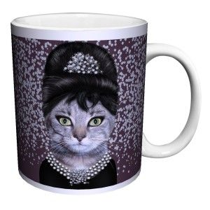 Cat Breakfast Novelty Coffee Mug
