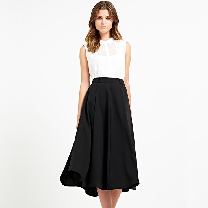 Naf Naf Pleated Skirt