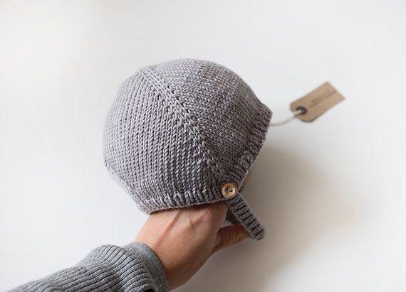 LAPPULA en pizarra - mano tejer sombrero bebé - lana merino