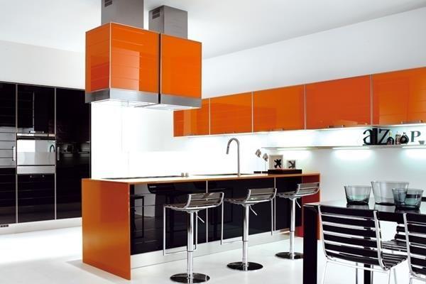 1 orange kitchen