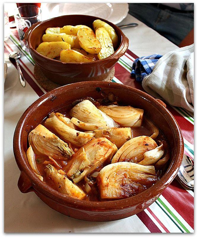 Un dimanche a la campagne: Fenouils braisés aux anchois et aux câpres (et au piment)