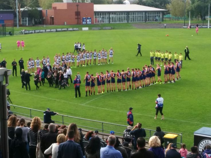 Minutes silence and tribute Vicki Cleary game and all women who have been killed by men
