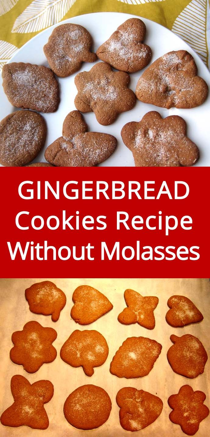 Easy Gingerbread Cookies Recipe Without Molasses! Must make this, people rave about these cookies! | MelanieCooks.com