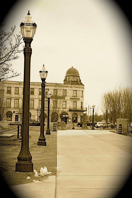 Springtime on The Courthouse Square in downtown Goderich by Huron Image Factory