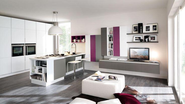Cucine Lube cucine lube via salaria : dettagli colorati | Cucina - Sala | Pinterest