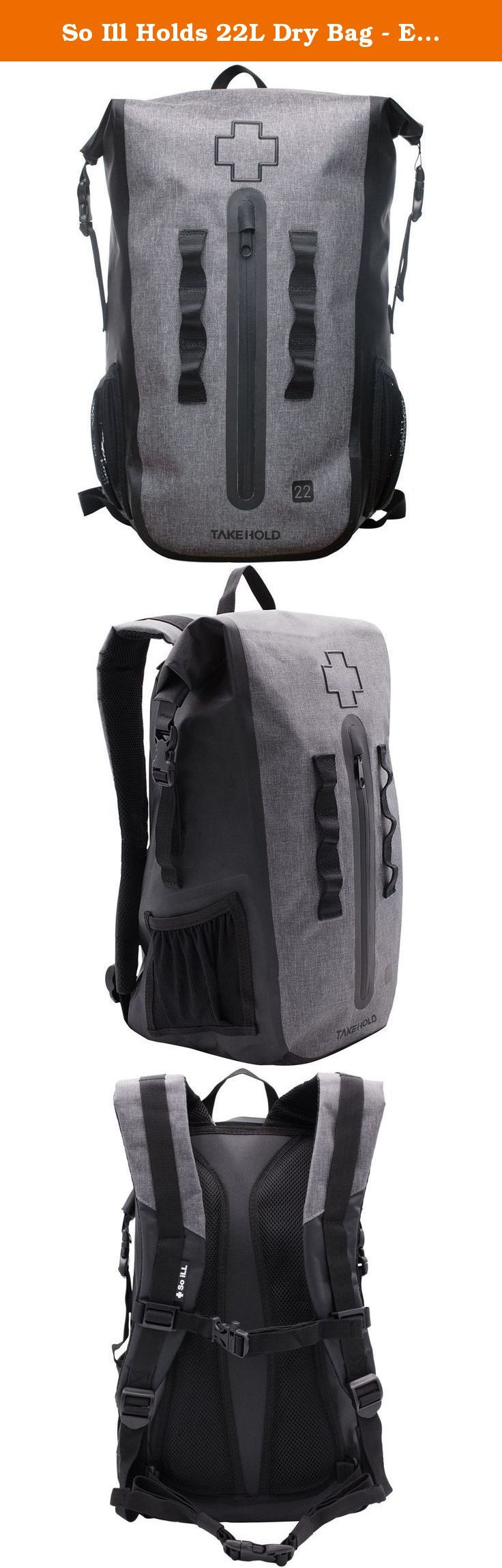 So Ill Holds 22L Dry Bag - Executive Series Black, 22L. Forget about checking in at the front desk--just brandish So Ill's Executive Series 22L Dry Bag and no one will be able to tell if you're just another member or the CEO of gym. This backpack fits the bare essentials needed for gym sessions and a day at the crag, if you're splitting gear with your partner. The pack's dual roll-top closure keeps your climbing contents secure, even if you punt the pack down the approach. The front…