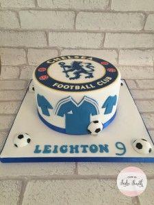 Chelsea Football Cake - http://www.cakebysadiesmith.co.uk/celebration-cakes/chelsea-football-cake/