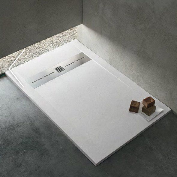 Piatto doccia in resina effetto pietra per installazione a