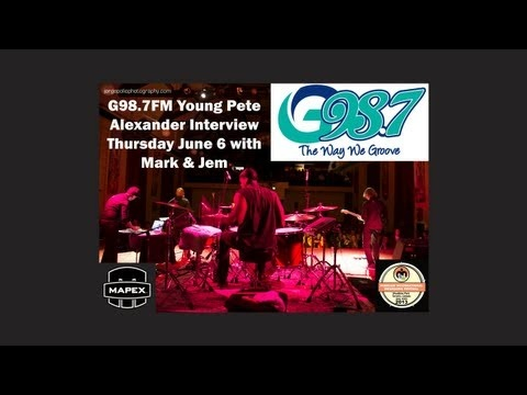 Mapex Drummer YoungPete Alexander's Interview with G98.7FM's Mark & Jem. YoungPete's incredible talent behind a drum kit has not gone unnoticed; he has toured with artists such as Rachelle Farrell, Lloyd, Jully Black, Janelle Monae, William Murphy, Edwin McCain, Kirk Franklin, and the band he once helped launch, El Pus who were signed to Virgin Music.