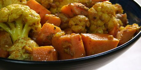 Cauliflower with Sweet Potatoes