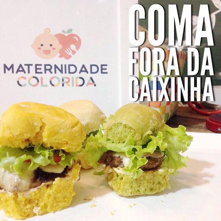 #LancheDeDomingo todo feito em  casa!     Mini cheese burguer no pão de cenoura;  Mini cheese burguer no pão de espinafre;  Mini cheese burguer no pão de mandioquinha.   O hambúrguer e os pães caseirinhos delicia e na medida certa!   #ComaForaDaCaixinha e varie nas opções de pães ao invés de fazer hambúrguer acrescente salada no sanduíche.    #MaternidadeColorida #BlogMC #DicaMC #DicaDaNutri #AlimentacaoInfantil #AlimentaçãoInfantil #NutriçãoComAmor #NutricaoInfantil #NutriçãoInfantil…