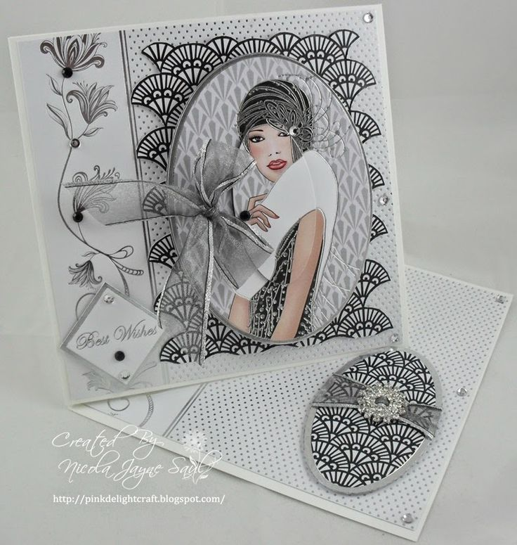 Pink Delight Craft. Kanban Deco Ladies paper craft collection - foiled & die cut toppers with co-ordinating card.