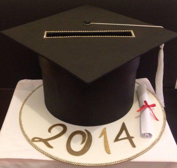 Homemade Grad Hat Boxes Graduation Card Box Ideas Graduation Card