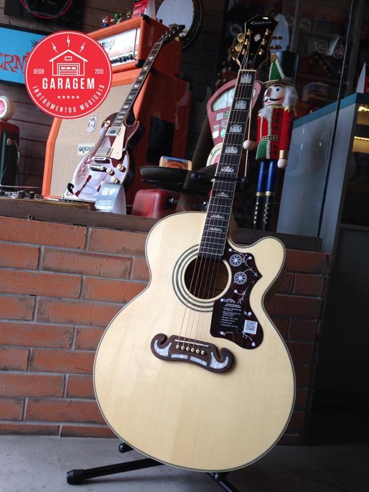 Epiphone ej200 ce gold natural guitar guitar room