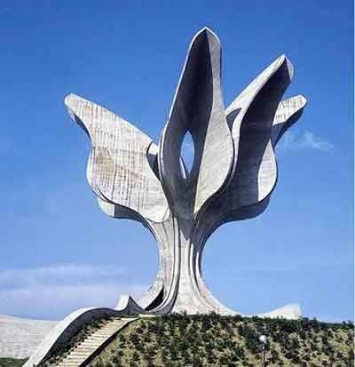 Jasenovac monument (Jasenovac/ Croatia) is devoted to the victims of Ustasha genocide during WWII in Jasenovac.