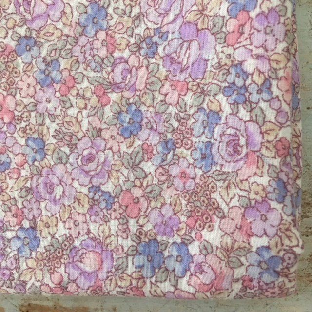 un lundi ordinaire - Petite housse de couette des Fleurs comme un Liberty [70cmx1m20]