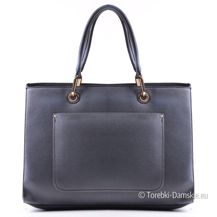 Elegancka torebka - czarno/szary kuferek ze złotymi okuciami metalowymi - zobacz wszystkie zdjęcia tego modelu Kliknij http://torebki-damskie.eu/czarne/1346-kuferek-czarno-szary-cieniowany.html