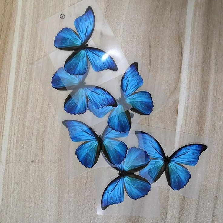 Blue Butterfly Patches For Custom Butterfly Sneaker Blue