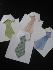 Shirt and Tie Father's Day Card | AllFreePaperCrafts.com