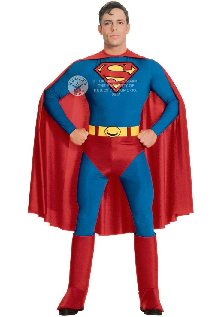 Adult Superman Costume, Tight Fitting Superman Fancy Dress - Superhero Costumes at Escapade