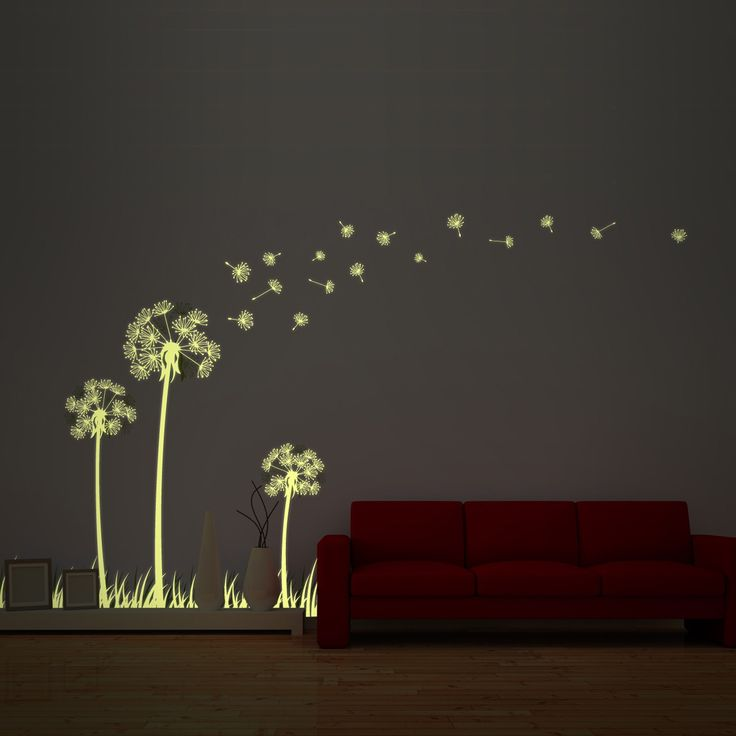 #GLOW IN DARK #DANDELION   This Product Can Be Attached Directly To The  Walls Part 51