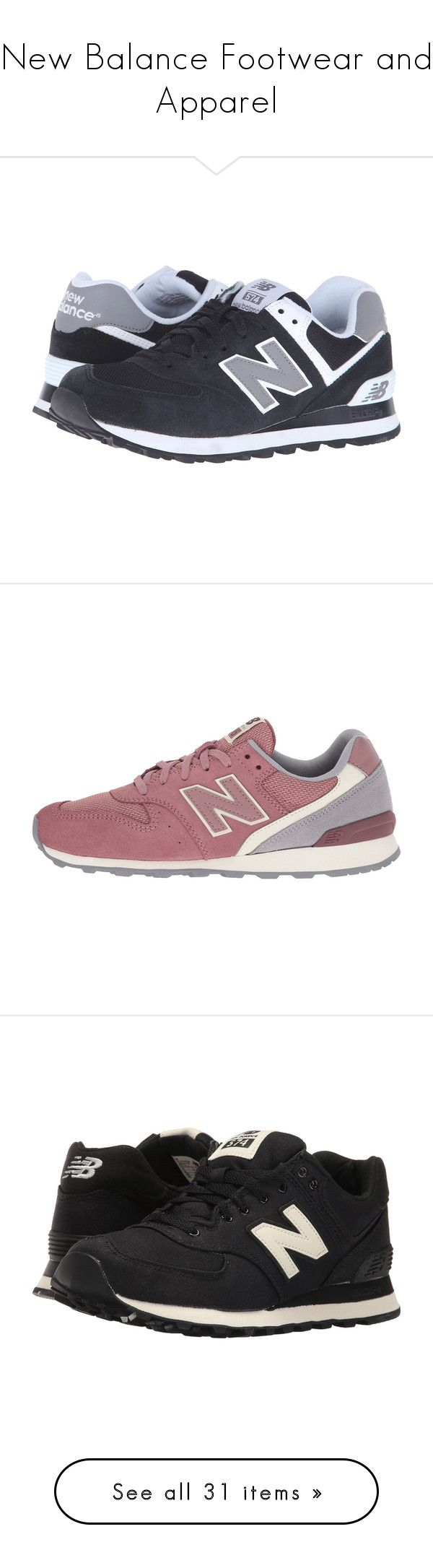 """""""New Balance Footwear and Apparel"""" by zappos ❤ liked on Polyvore featuring shoes, athletic shoes, sneakers, wide width shoes, wide athletic shoes, black and white shoes, mesh shoes, lightweight shoes, tenis and suede shoes"""