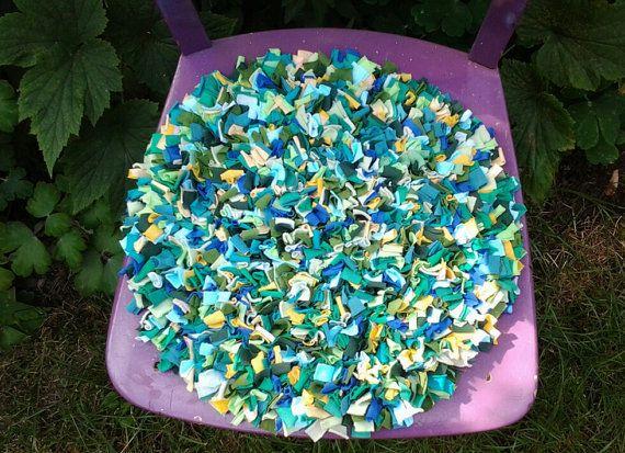 chair cushion multicoloured cushion seat pad by textilechicken, £35.00