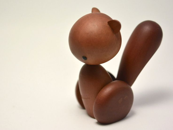 Vintage Royal Pet SQUIRREL Japanese Authentic Modern Wooden Animal Kay Bojesen Style