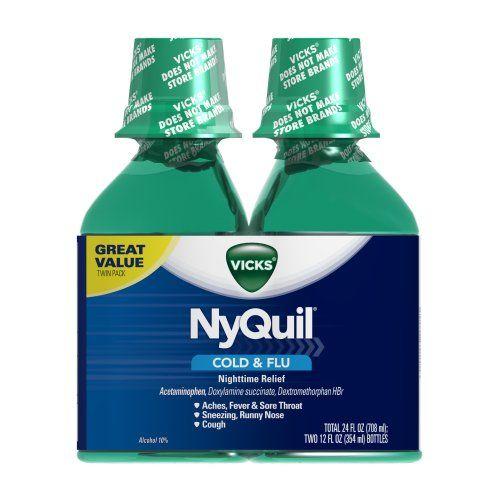 Vicks NyQuil Cold & Flu Nighttime Relief Original Flavor Liquid 2 x 12 Fl Oz Vicks http://www.amazon.com/dp/B005GS7ZMC/ref=cm_sw_r_pi_dp_DE9Rwb0WPANP3