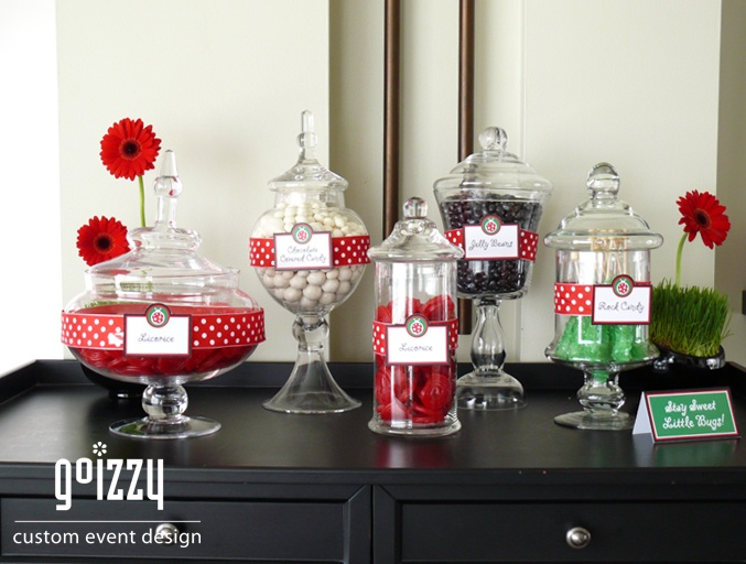 Lady Bug 1st Birthday Party - Candy Bar!