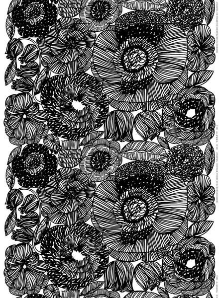 Marimekko Marimekko Kurjenpolvi Fabric Black/White - KIITOSlife - 1