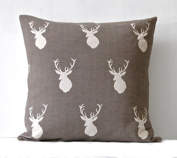 Stag Pillow by LocalProduceDesign on Etsy, $48.00