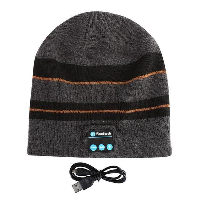 2016 New Fashion Outdoor Sport Stereo Music Hat Beanie Cap Wireless  Bluetooth Earphone Headset Headphone Smart 8117f9fff805