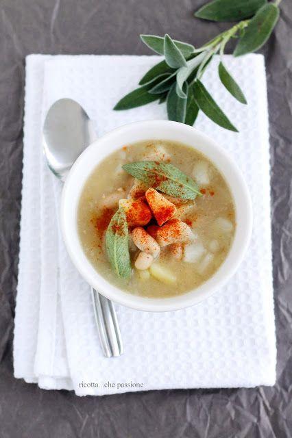 ricotta...che passione: Zuppa di patate, topinambur e cannellini