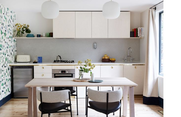 Kitchen and dining space at Jacky Winter Gardens. Interior design by Sarah Trotter of Hearth Studio. Photo – Sean Fennessy.
