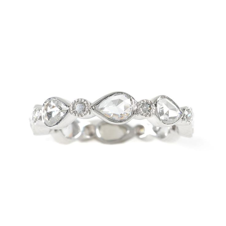 Unique Diamond Wedding Bands for Women I like the idea of just one ring-band or engagement--but just one ring (one or the other)