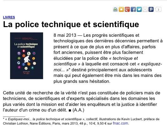 Exemple de CV ingenieur de la police technique et scientifique