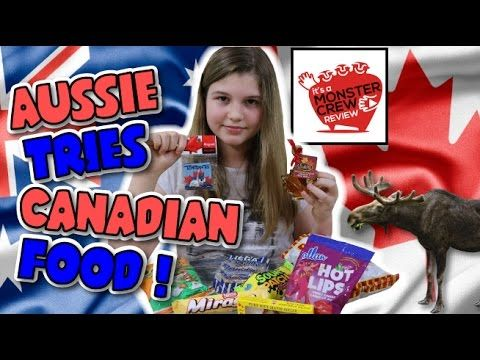 Australian trying Canadian Snacks   Food swap with Monster Crew Review  ...