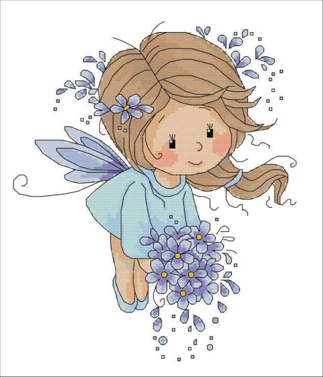 Fairy Girl #clipart #patterns #colored #paintpatterns #designs