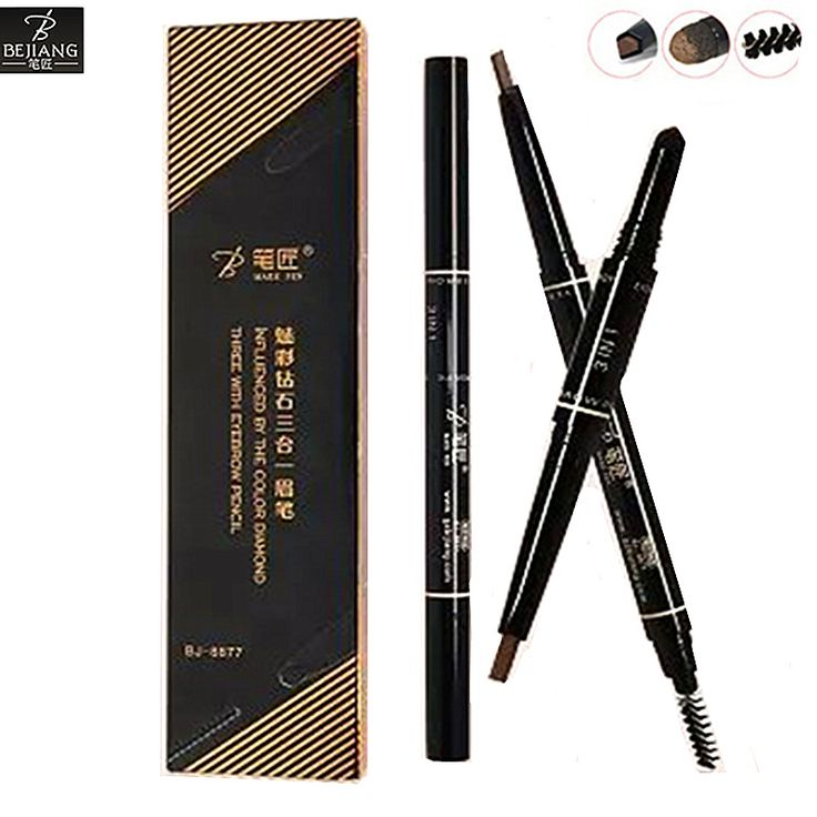 BEJIANG New 3 in 1 Make Up Eyebrow Pencil Eyebrow Powder Pen Eyebrows Cosmetics With Eye Brow Brushes