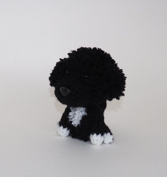 Portuguese Water Dog Stuffed Animal Amigurumi Dog by Inugurumi, $38.50